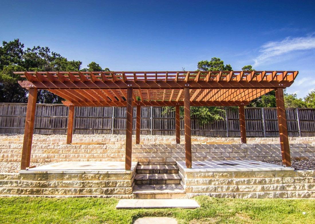 wood pergola Dallas TX (1)